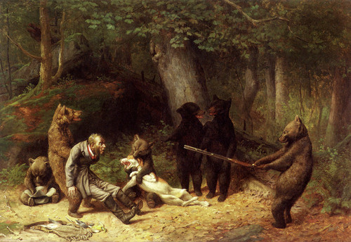 Art Prints of Making Game of the Hunter by William Holbrook Beard