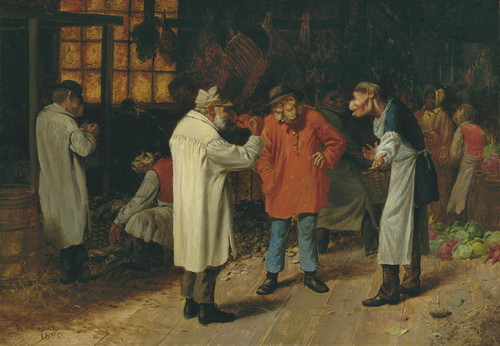 Art Prints of Politics in the Market by William Holbrook Beard