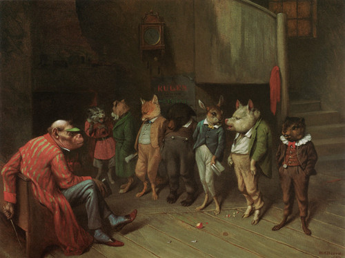 Art Prints of School Rules by William Holbrook Beard
