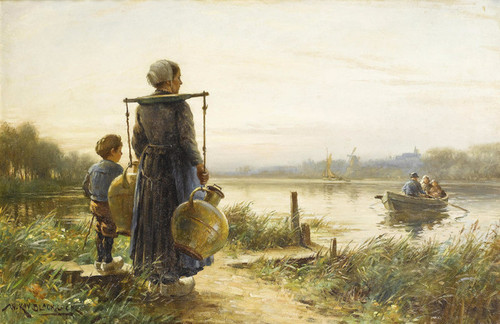 Art Prints of Waiting for the Ferry by William Kay Blacklock