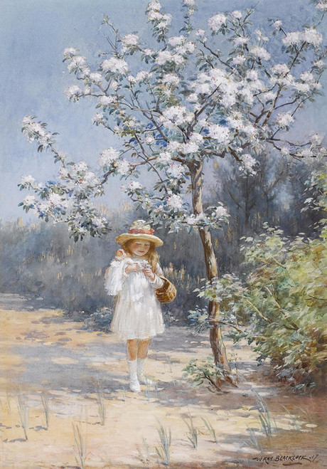 Art Prints of Collecting Blossom by William Kay Blacklock