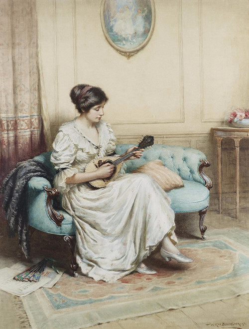 Art Prints of Musical Interlude by William Kay Blacklock