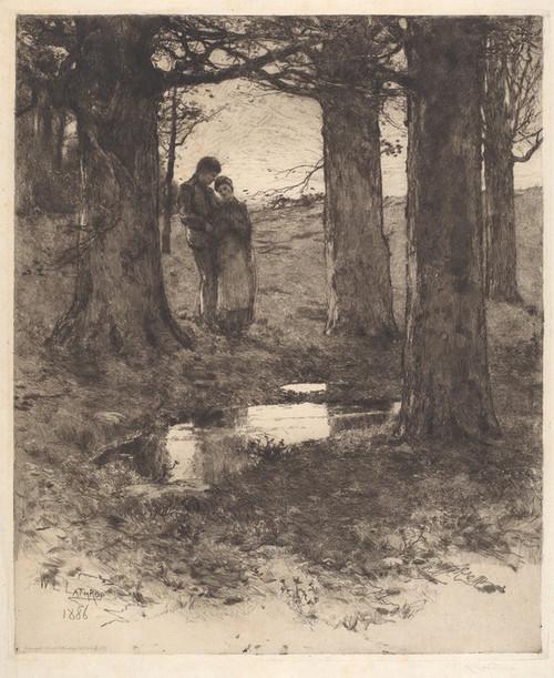 Art Prints of An Evening Walk by William Lathrop