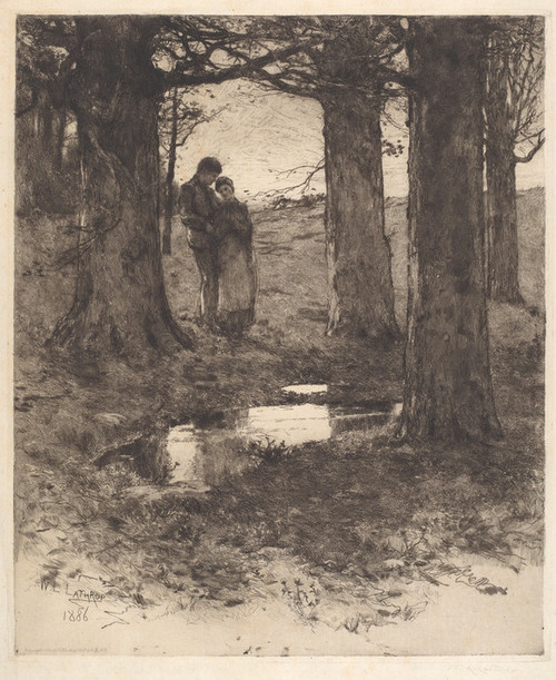 Art Prints of An Evening Walk by William Lathrop