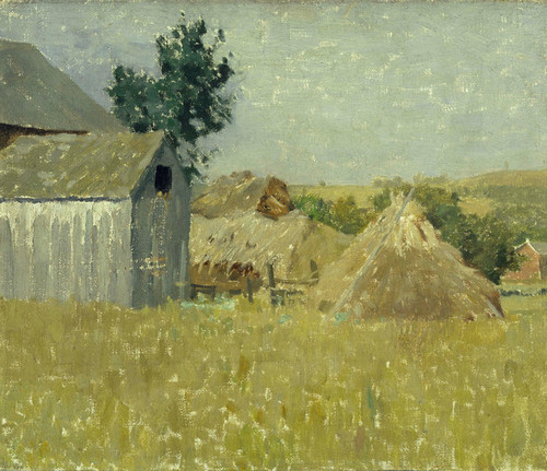Art Prints of Gray Barn by William Lathrop