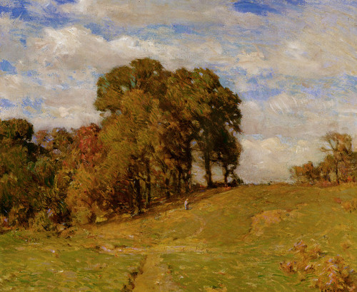 Art Prints of White Oaks and Persimmon Trees by William Lathrop