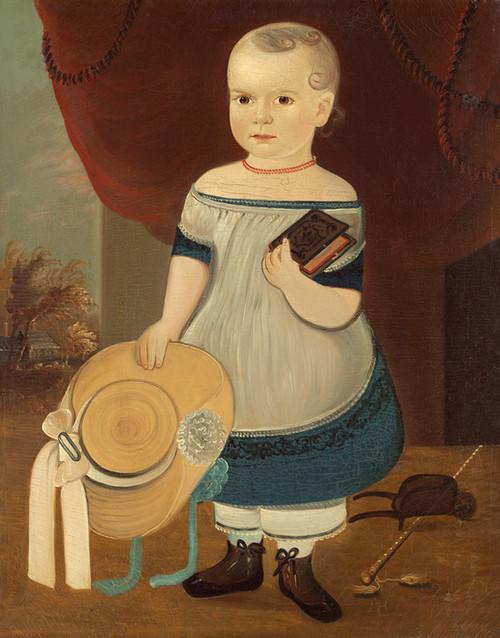 Art Prints of Child with Straw Hat by William Matthew Prior