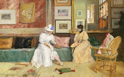 Art Prints of A Family Call by William Merritt Chase
