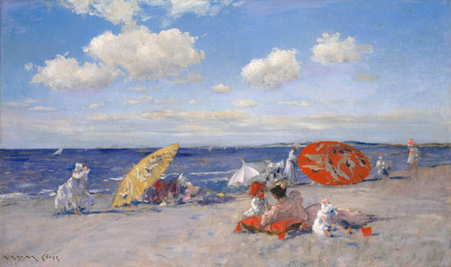 Art Prints of At the Seaside by William Merritt Chase