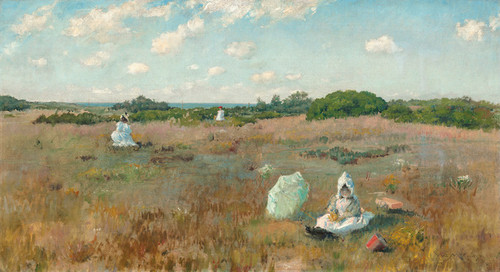 Art Prints of Gathering Autumn Flowers by William Merritt Chase
