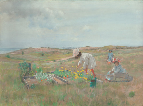Art Prints of Gathering Flowers, Shinnecock Long Island by William Merritt Chase