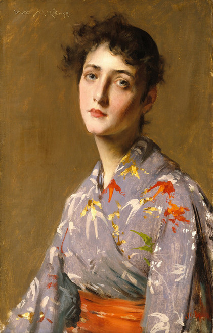 Art Prints of Girl in a Japanese Costume by William Merritt Chase