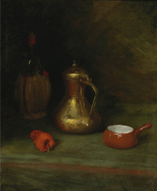 Art Prints of Still Life with Bottle, Carafe and Pot by William Merritt Chase