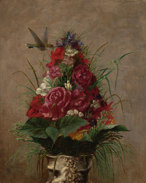 Art Prints of Still Life with Hummingbird by William Merritt Chase