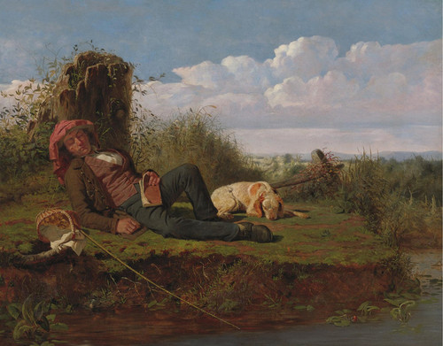 Art Prints of The Lazy Fisherman by William Tylee Ranney