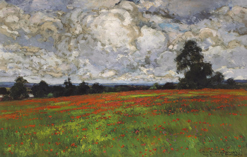 Art Prints of Clouds Over a Field of Poppies by William Wendt