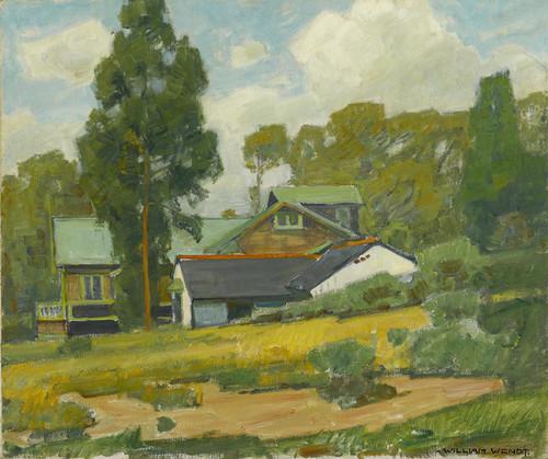 Art Prints of Laguna Cottages by William Wendt