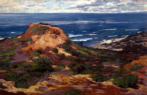 Art Prints of Orange Coast with Blue Sea Beyond by William Wendt