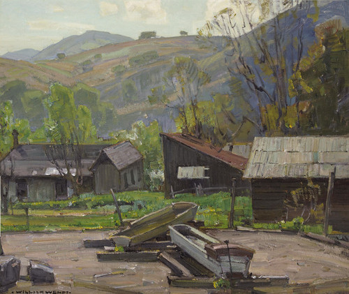 Art Prints of Water Troughs on a Farm by William Wendt