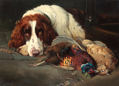 Art Prints of Setter with Game II by William Woodhouse
