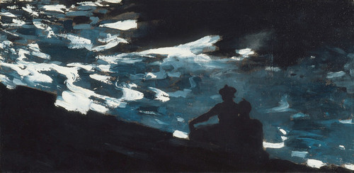 Art Prints of Moonlight on the Water by Winslow Homer