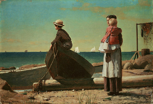 Art Prints of Dad's Coming by Winslow Homer