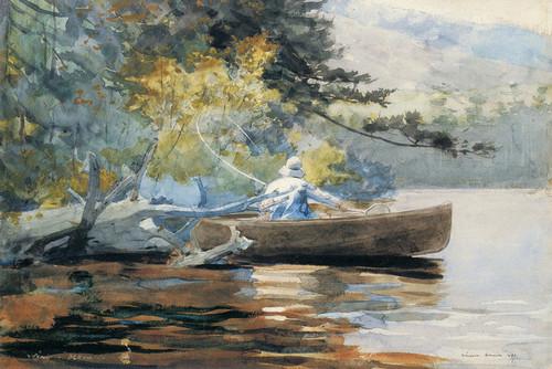 Art Prints of A Good One, Adirondacks by Winslow Homer