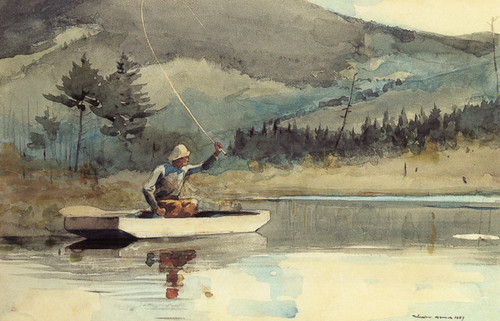Art Prints of A Quiet Pool on a Sunny Day by Winslow Homer