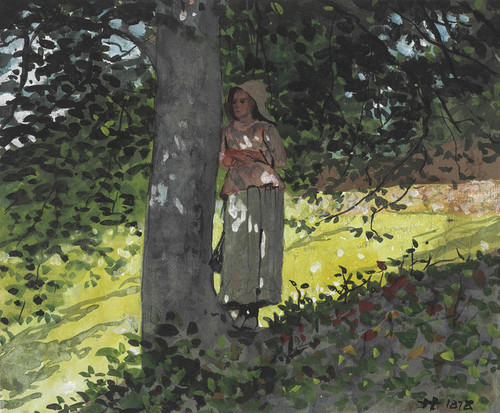 Art Prints of A Shady Spot Houghton Farm by Winslow Homer