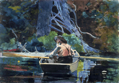 Art Prints of Adirondack Guide by Winslow Homer