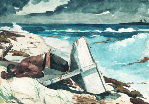 Art Prints of After the Hurrican, Bahamas by Winslow Homer