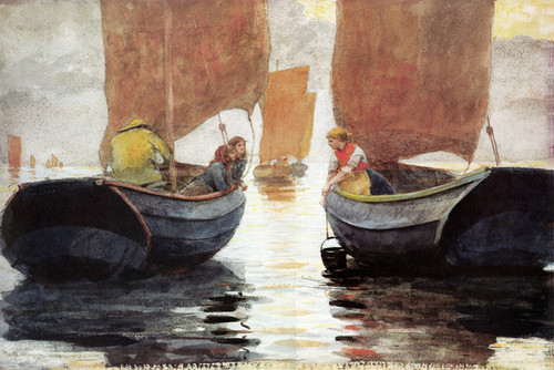 Art Prints of An Afterglow by Winslow Homer