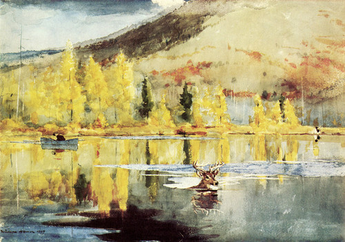 Art Prints of An October Day by Winslow Homer