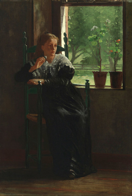 Art Prints of At the Window by Winslow Homer