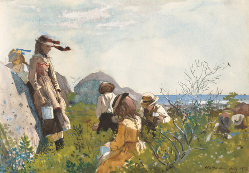Art Prints of The Berry Pickers by Winslow Homer