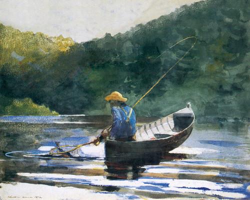 Art Prints of Boy Fishing by Winslow Homer