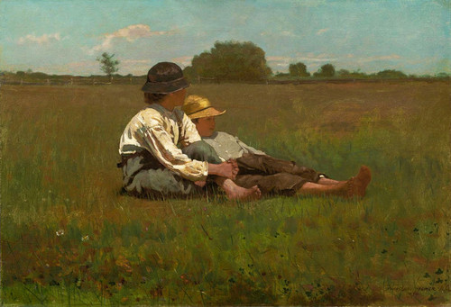 Art Prints of Boys in a Pasture by Winslow Homer