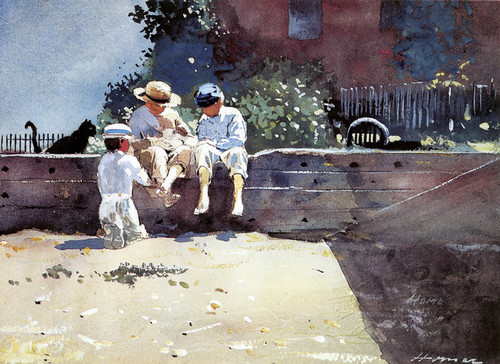 Art Prints of Boys and a Kitten by Winslow Homer