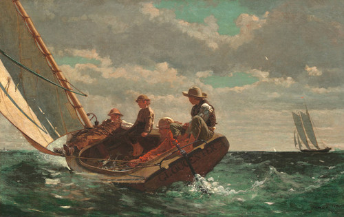 Art Prints of Breezing Up by Winslow Homer