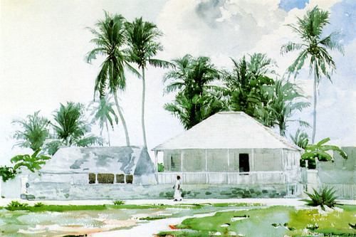 Art Prints of Cabins Nassau by Winslow Homer