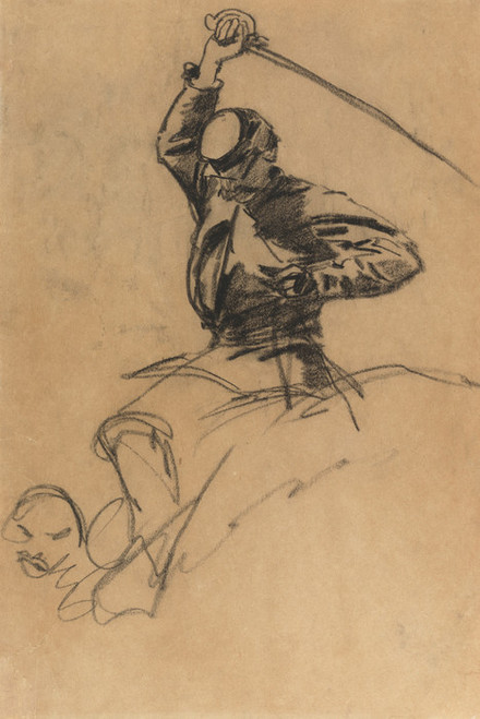 Art Prints of Calvary Soldier with Sword on Horseback by Winslow Homer