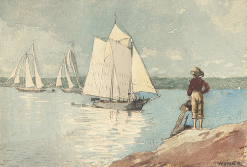 Art Prints of Clear Sailing by Winslow Homer
