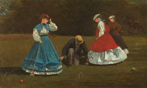 Art Prints of Croquet Scene by Winslow Homer