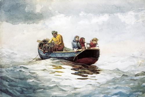 Art Prints of Crab Fishing by Winslow Homer
