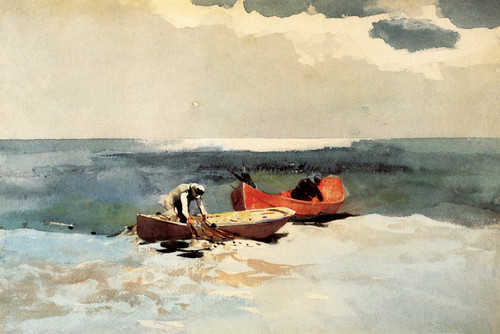 Art Prints of Deep Sea Fishing by Winslow Homer