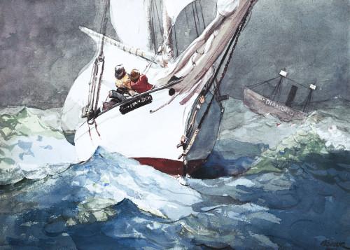 Art Prints of Diamond Shoal by Winslow Homer