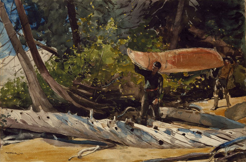 Art Prints of End of the Portage by Winslow Homer