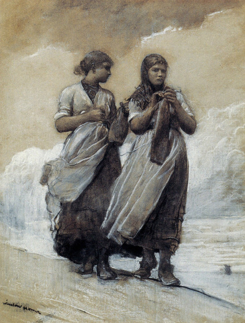 Art Prints of Fisher Girls on Shore Tynemouth by Winslow Homer
