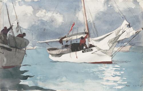 Art Prints of Fishing Boats Key West by Winslow Homer
