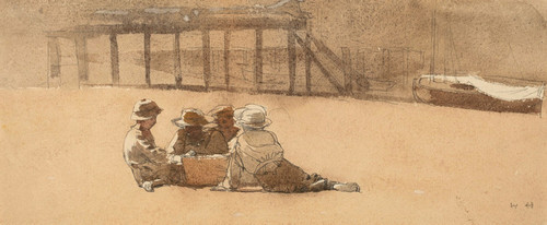 Art Prints of Four Boys on a Beach by Winslow Homer